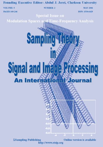 Sampling Theory in Signal and Image Processing- An International Journal